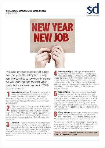 SD Blog Series: New Year, New Job